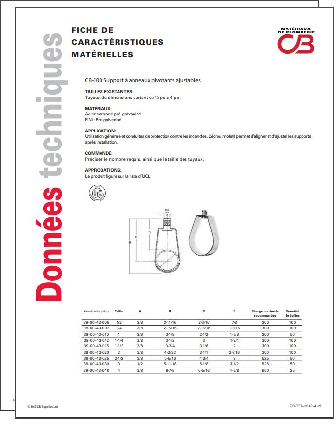 French TechData Sheet - CB100