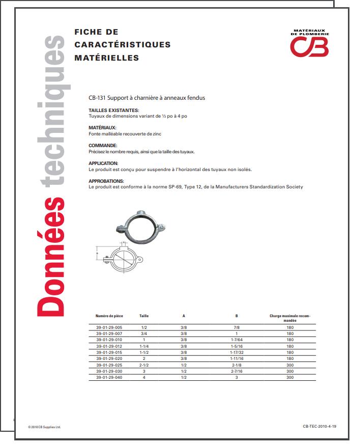 French TechData Sheet - CB131