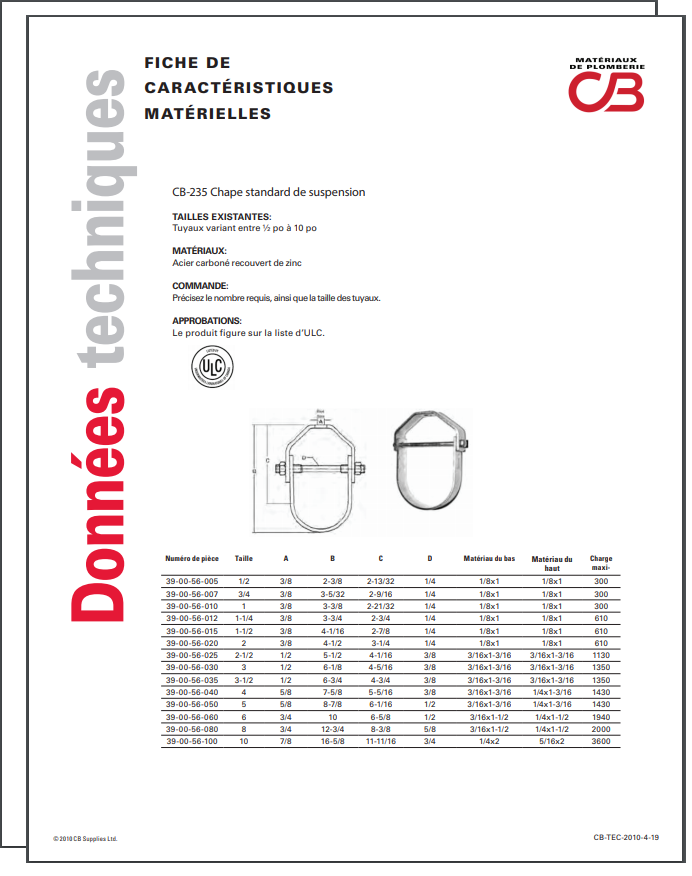French TechData Sheet - CB235