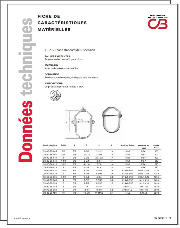 French TechData Sheet - CB235
