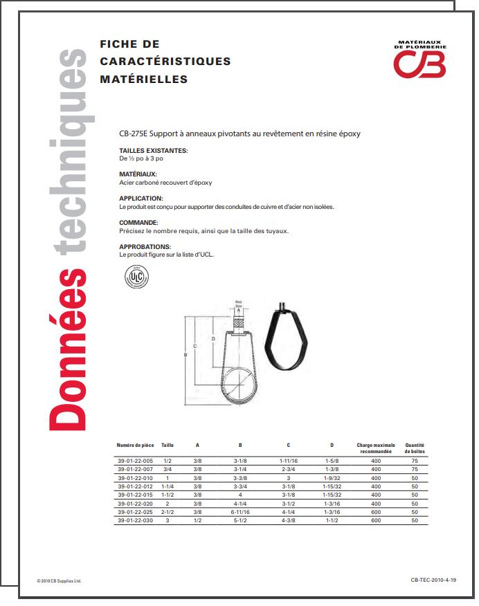 French TechData Sheet - CB275E