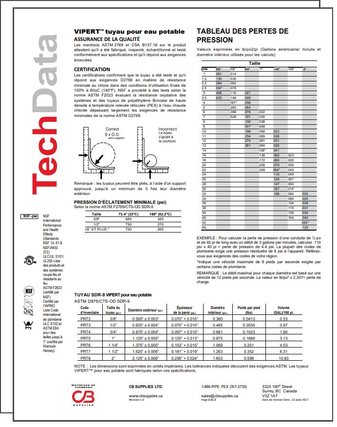 French TechData Sheet - VP
