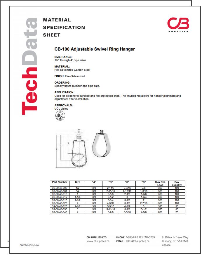 TechData Sheet - CB100