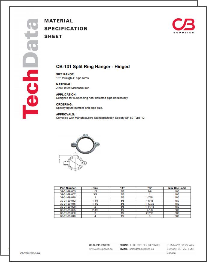 TechData Sheet - CB131