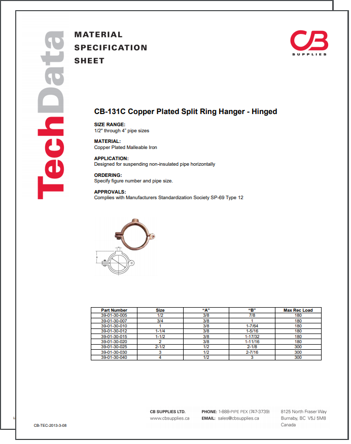 TechData Sheet - CB131C