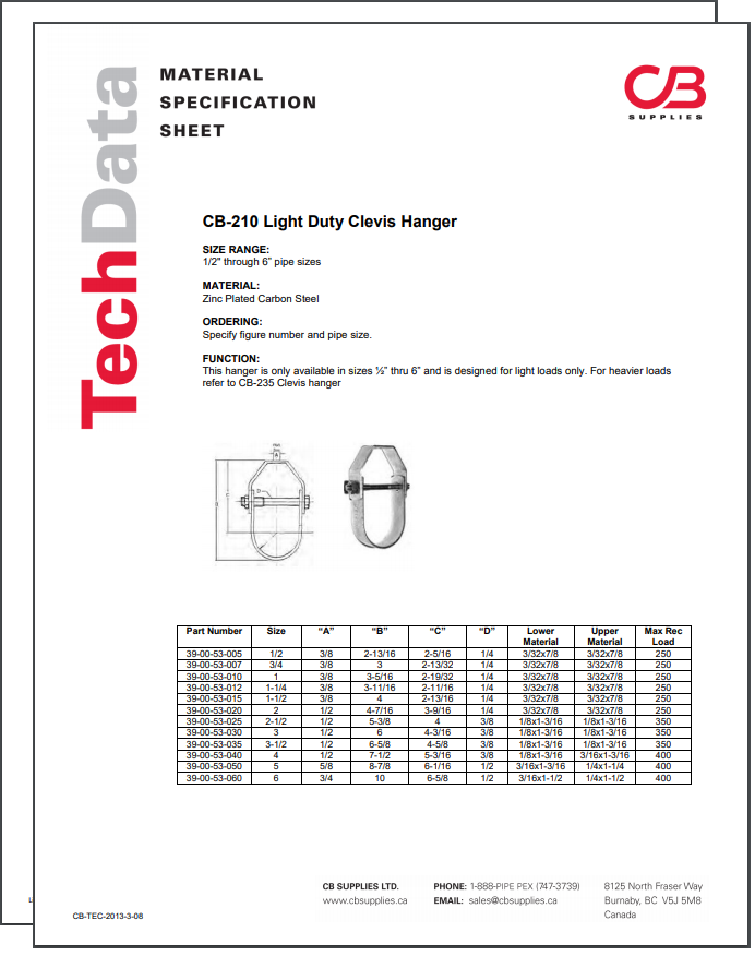 TechData Sheet - CB210