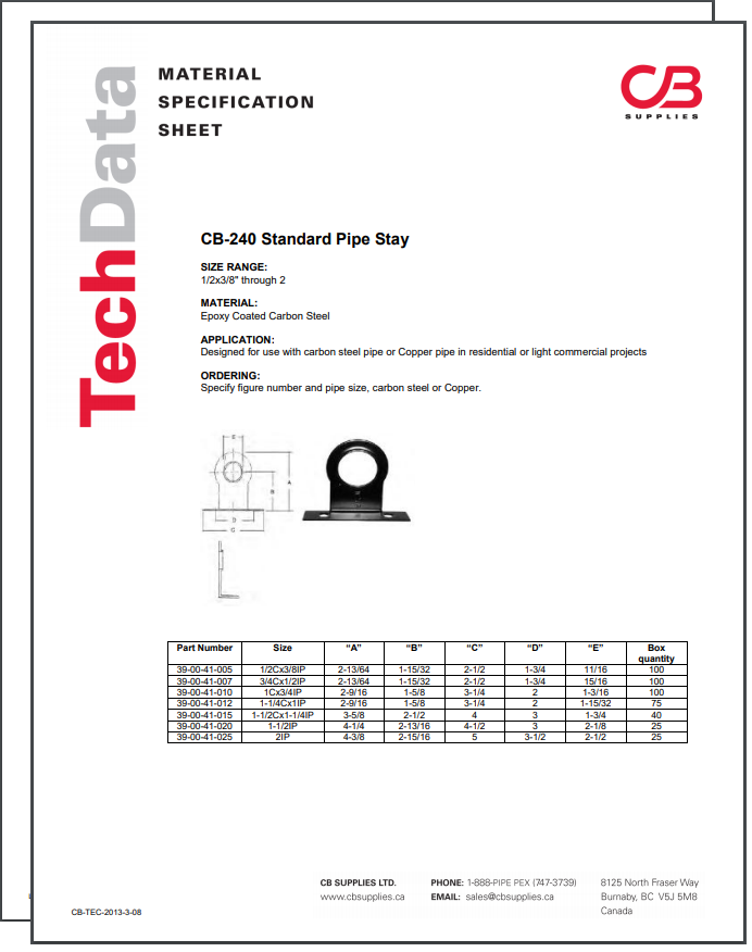 TechData Sheet - CB240