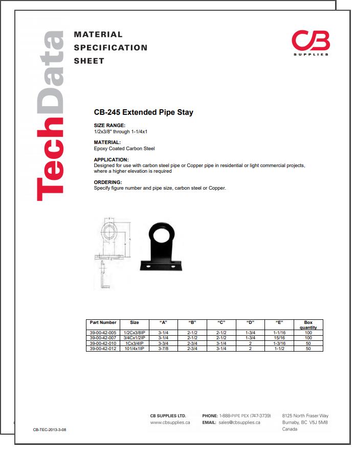 TechData Sheet - CB245
