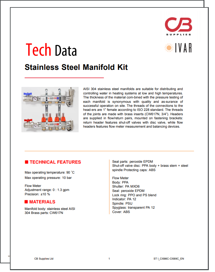 TechData Sheet - IVAR(SS)